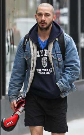 Remarkable Shia Labeouf Shows Off Shaved Head After Boxing Workout E News Short Hairstyles For Black Women Fulllsitofus