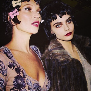 Cara Delevingne, Kate Moss, Louis Vuitton