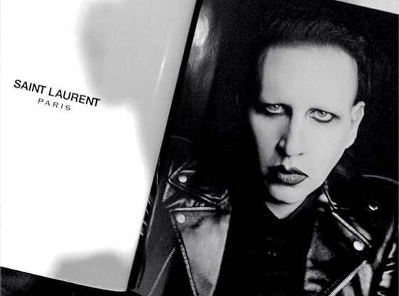 Marilyn Manson, Saint Laurent Ad, Instagram