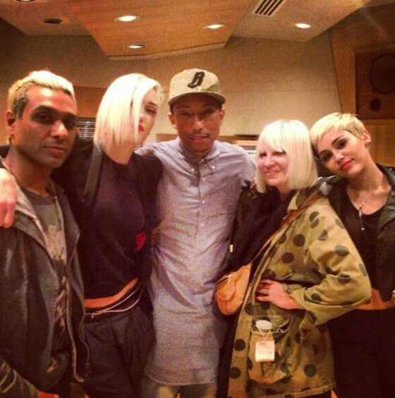 Miley Cyrus, Pharrell, Gwen Stephanie, Instagram, Twit pic