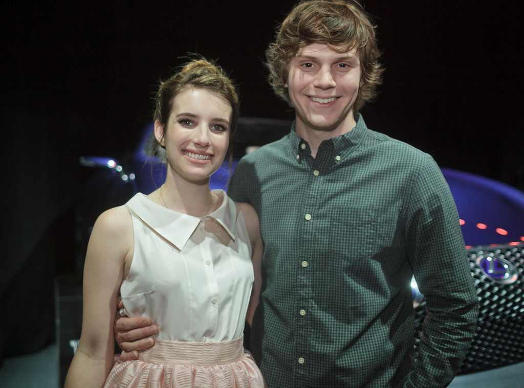 Lexus Event, Emma Roberts, Evan Peters