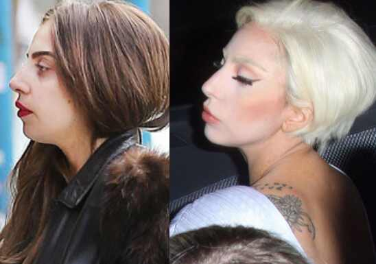 Lady Gaga before and after