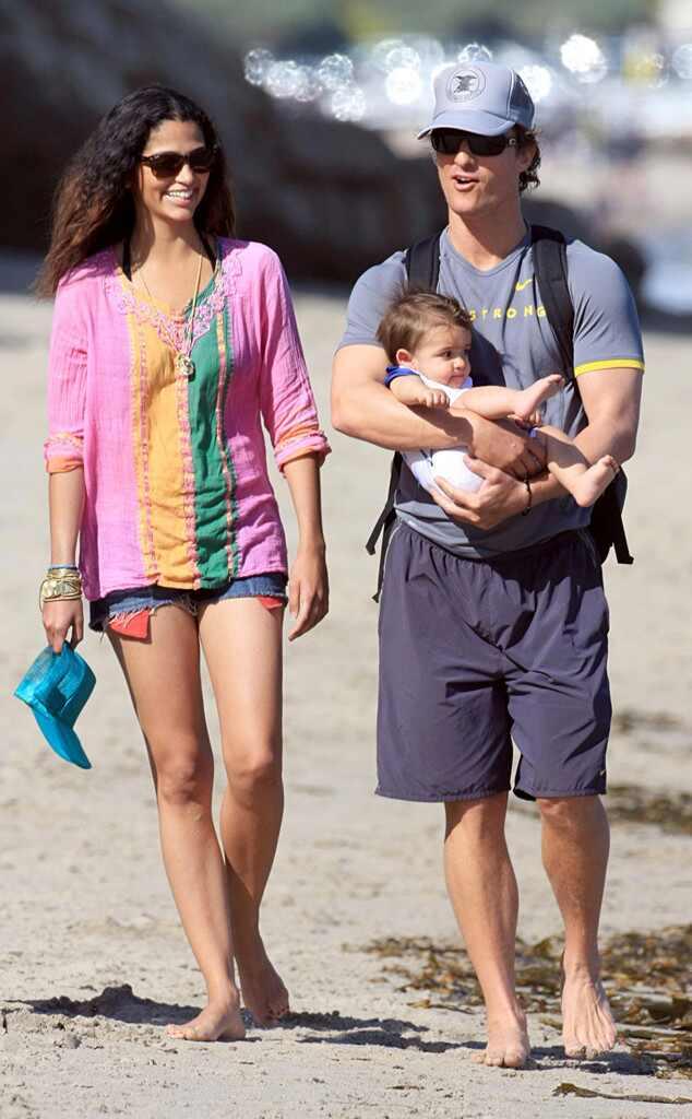 Matthew McConaughey, Levi McConaughey, Camilla Alves, Celebrity Babies