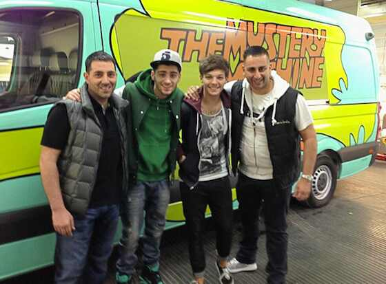 Louis Tomlinson, Zayn Malik, Mystery Machine, One Direction