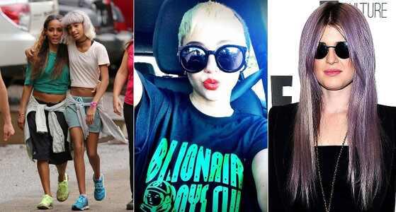 Willow Smith, Miley Cyrus, Kelly Osbourne, cabelos exoticos das famosas