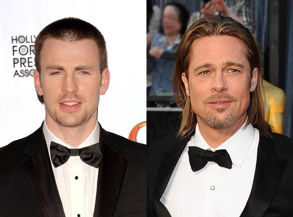 Chris Evans, Brad Pitt