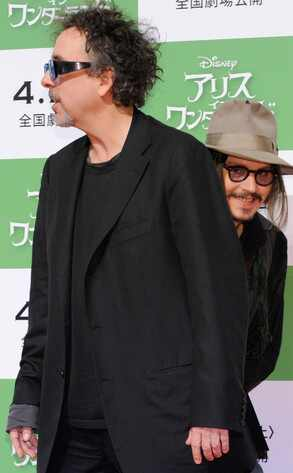 Johnny Depp, Tim Burton, Photobomb