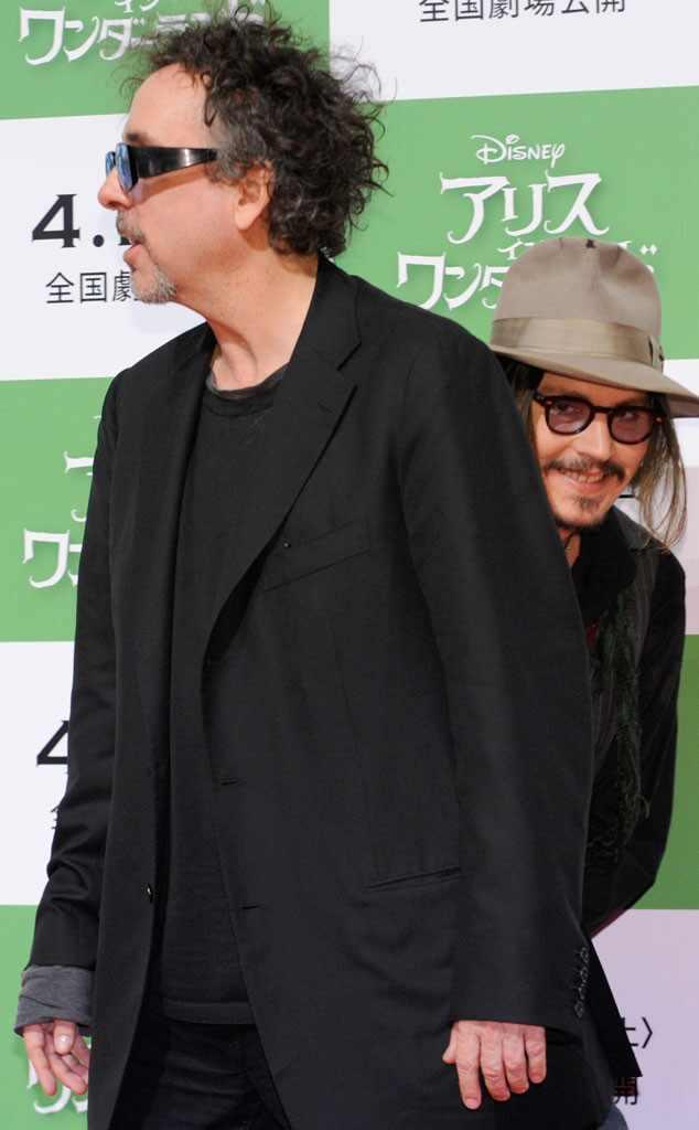 Johnny Depp, Tim Burton, Photobomb