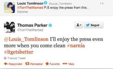 Tom Parker, Louis Tomlinson, Twitter