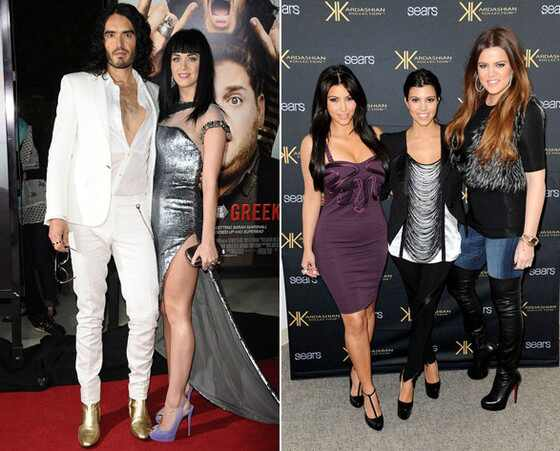 Russel Brand, Katy Perry, Kardashians