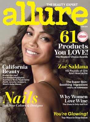 Zoe Saldana, Allure Magazine