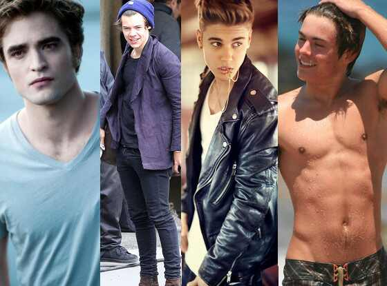Robert Pattinson, Harry Styles, Justin Bieber, Zac Efron, mais gato