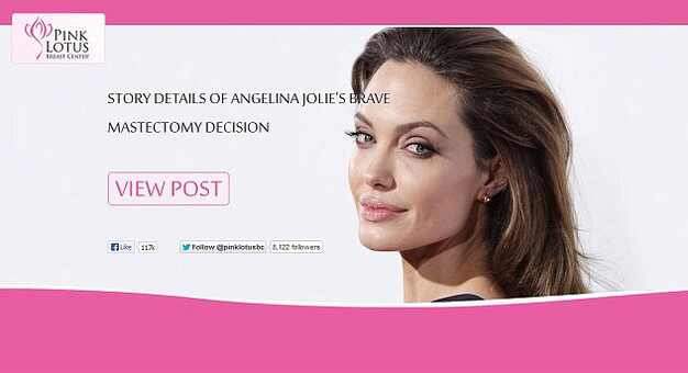 Angelina Jolie, Pink Lotus Breast Center