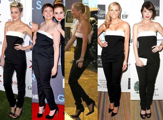 Miley Cyrus, Lena Dunham, Gwyneth Paltrow, Jamie Tisch, Katherine Castro