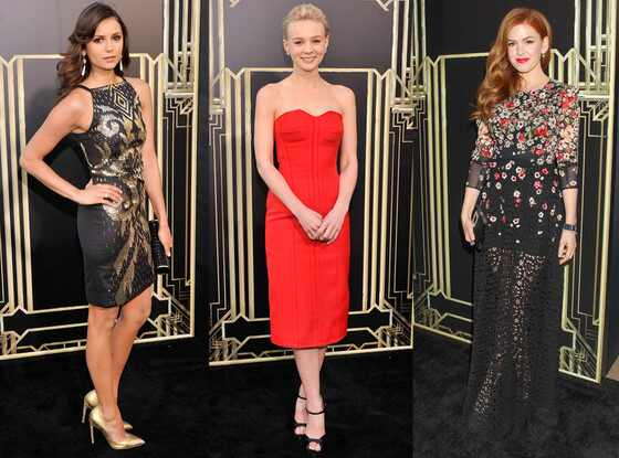 Nina Dobrev, Carey Mulligan, Isla Fisher, The Great Gatsby Premiere