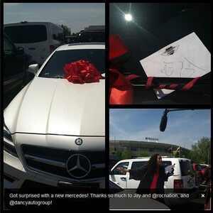 Jay-Z, Mercedes, Twit Pic