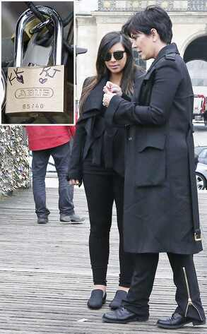 Kim Kardashian, Kris Jenner, Paris, Ponts des Arts
