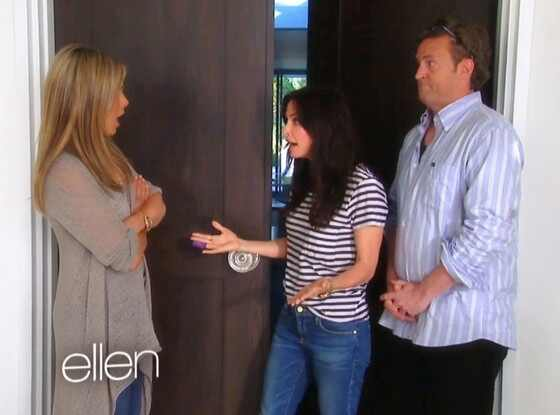 Ellen, Jennifer Aniston, Matthew Perry, Courtney Cox