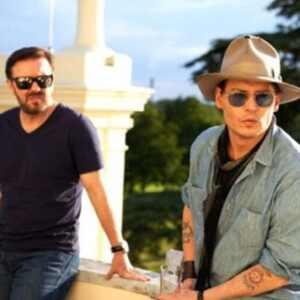 Ricky Gervais, Johnny Depp, Twit Pic
