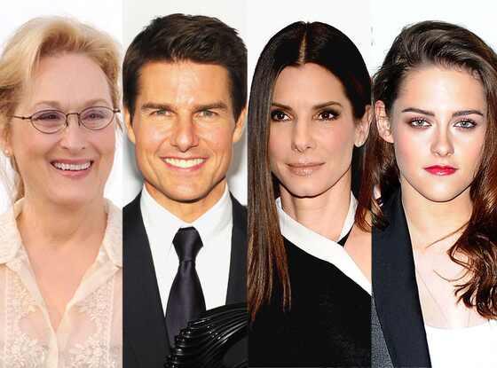 Meryl Streep, Tom Cruise, Sandra Bullock, Kristen Stewart