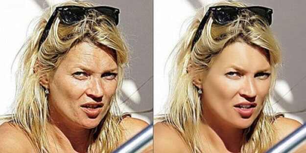 Fotos celebridades antes e depois do Photoshop
