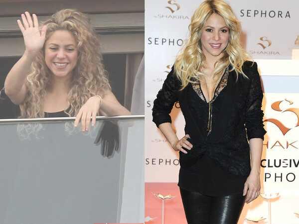 Shakira, antes e depois shakira