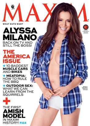 Alyssa Milano, Maxim Magazine Cover