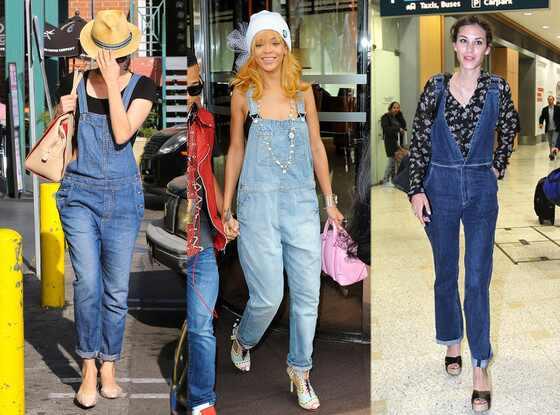 Rihanna, Diane Kruger, Alexa Chung, Overalls