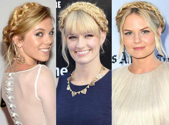 Blond Milkmaid Braid