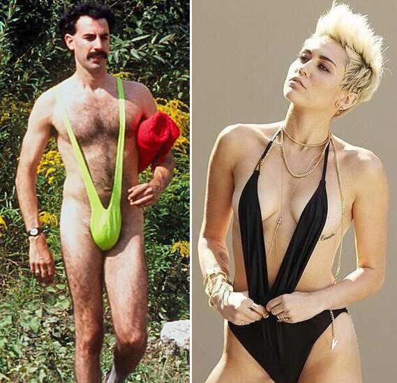 Borat e Miley Cyrus