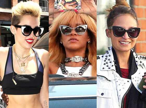 Nicole Richie, Rihanna, Miley Cyrus, Sunglasses Trend