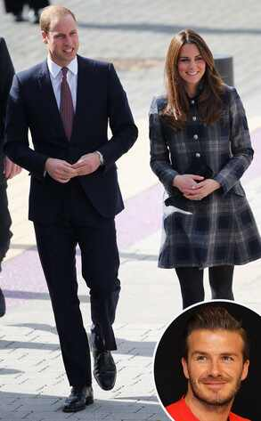 Kate Middleton, Prince William, David Beckham