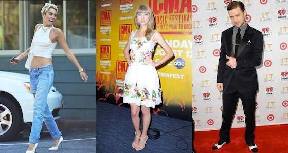 Miley Cyrus, Taylor Swift, Justin Timberlake