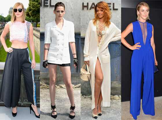 Jennifer Lawrence, Kristen Stewart, Rihanna, Julianne Hough