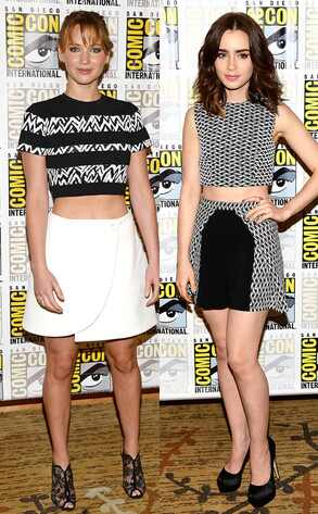 Jennifer Lawrence, Lily Collins, Comic-Con