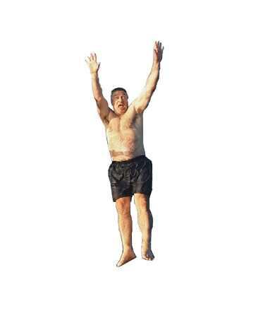 Alec Baldwin Shirtless Jumping