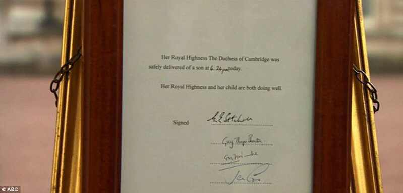 Kate Middleton, Principe William, bebe real