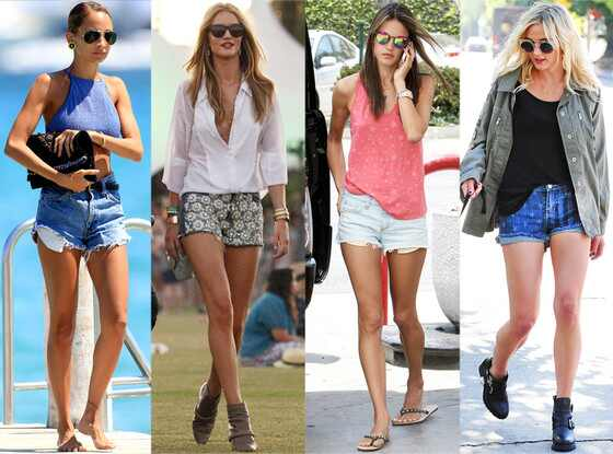 Nicole Richie, Rosie Huntington-Whiteley, Alessandra Ambrosio, Ashlee Simpson, Shorts