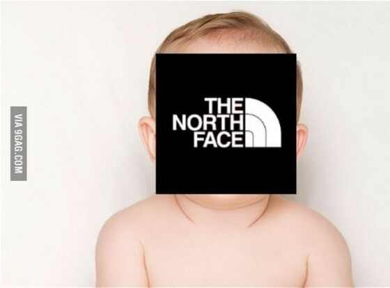 North West, 9gag, the north face