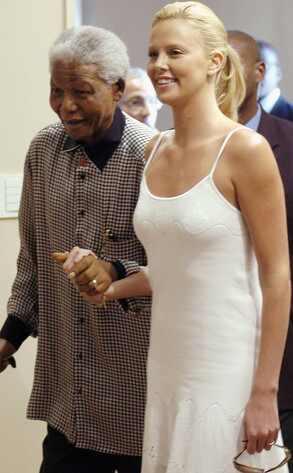 Nelson Mandela, Charlize Theron