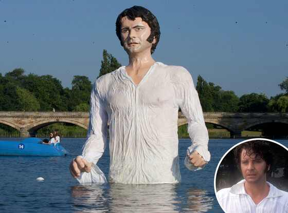 Colin Firth, Mr. Darcy, Serpentine Lake, Hyde Park
