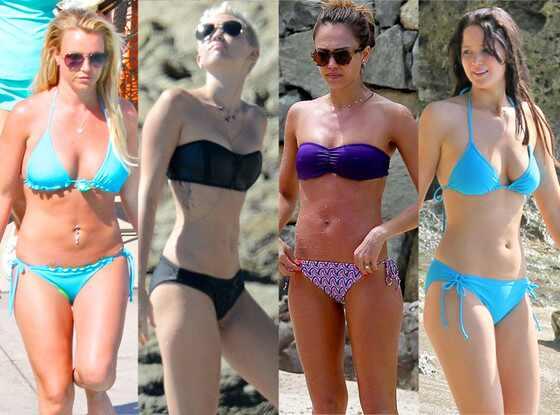 Britney Spears, Miley Cyrus, Jessica Alba, Jennifer Lawrence