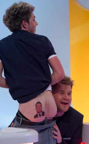 Niall Horan, James Corden