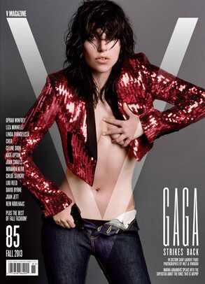 Lady Gaga, V Magazine, Nude