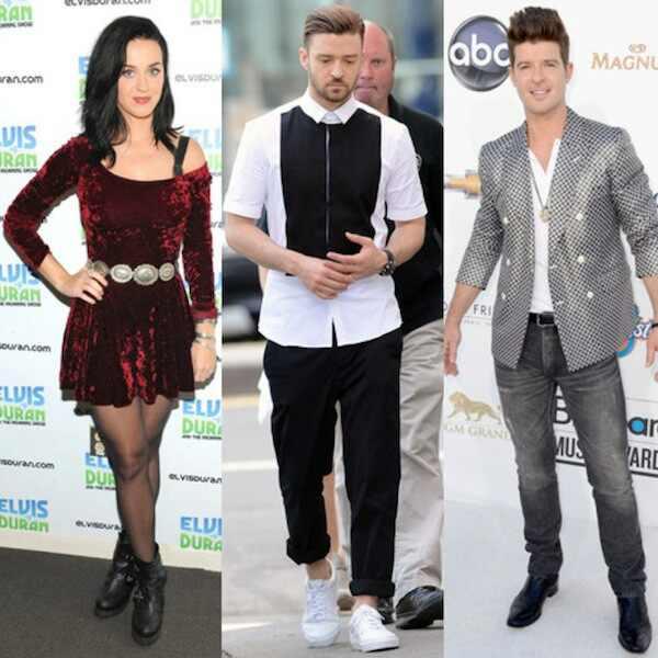 Katy Perry, Justin Timberlake, Robin Thicke