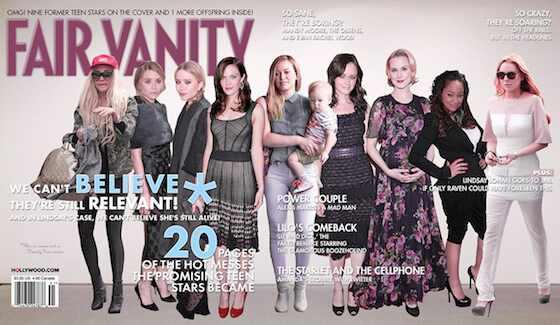Vanity Fair antes e depois