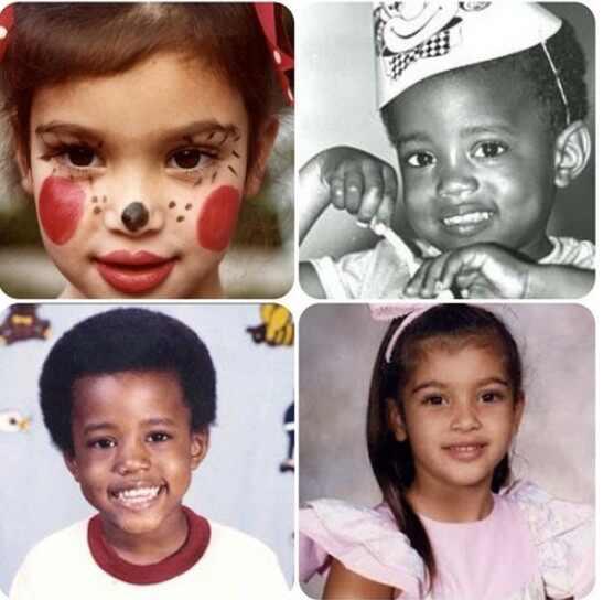 Kim Kardashian e Kanye West crianças