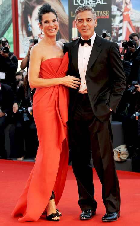 Sandra Bullock, George Clooney, Venice