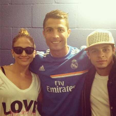 Jennifer Lopez, Cristiano Ronaldo, Casper Smart