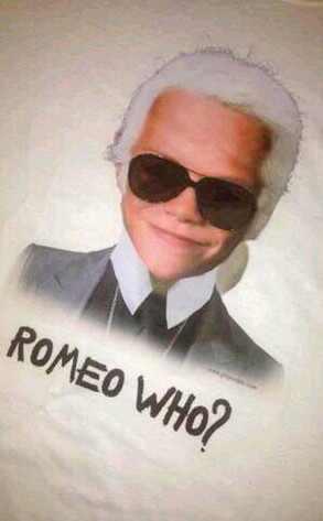 Romeo Beckham, Karl Lagerfield, Twit Pic